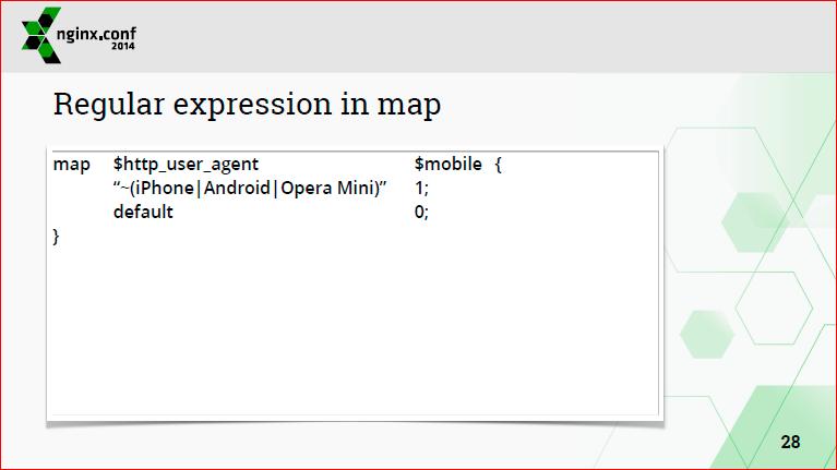 Регулярные выражения в nginx